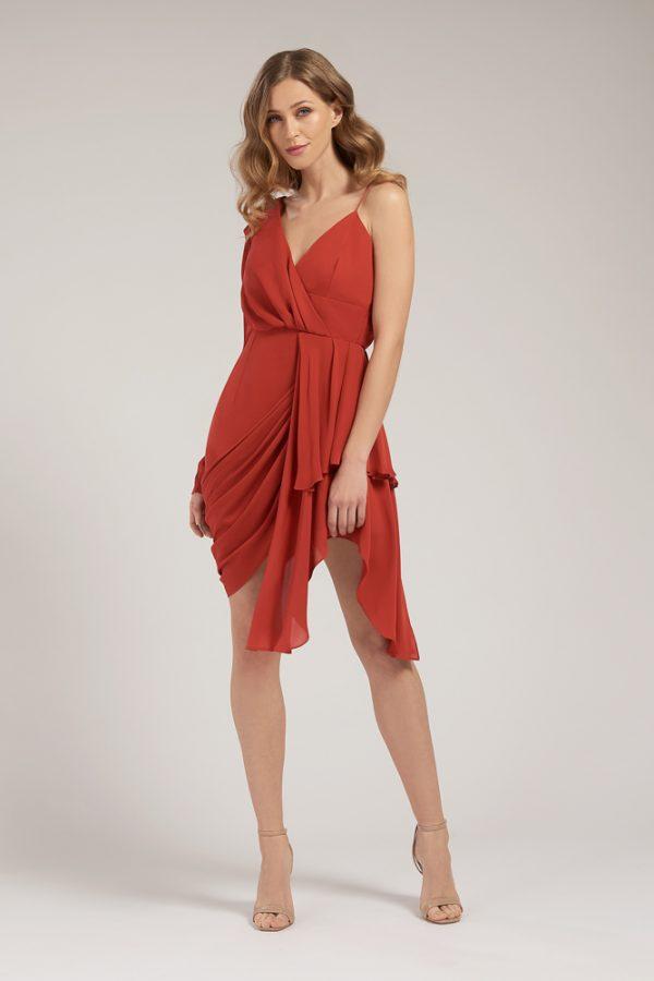Hannah Drape Dress Front