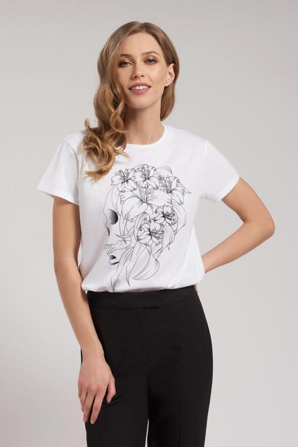 T-shirt Floral Skull