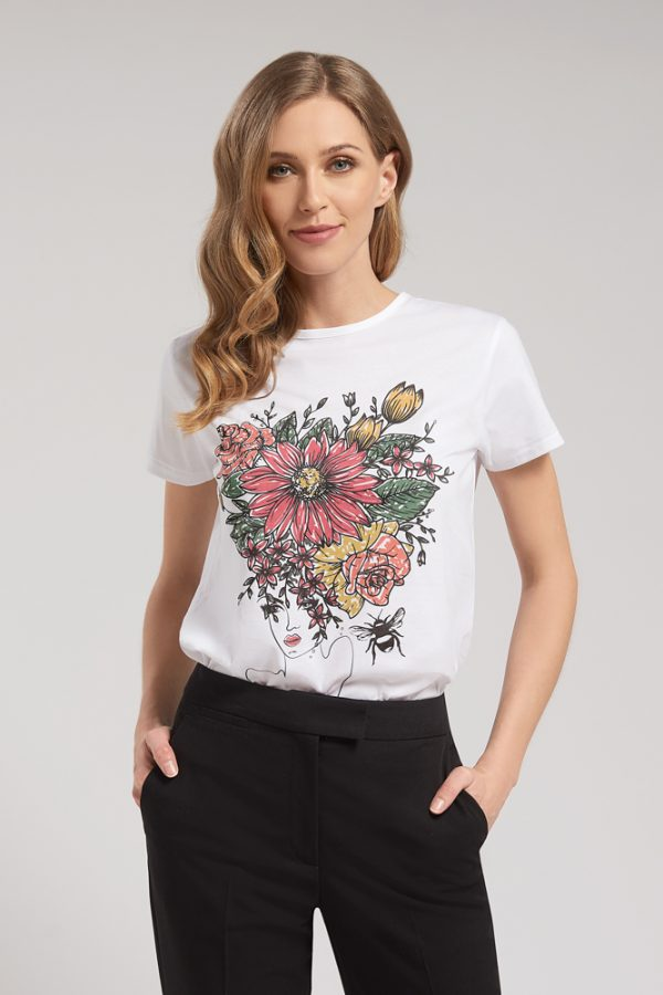 T-shirt Flowers In Her Hair